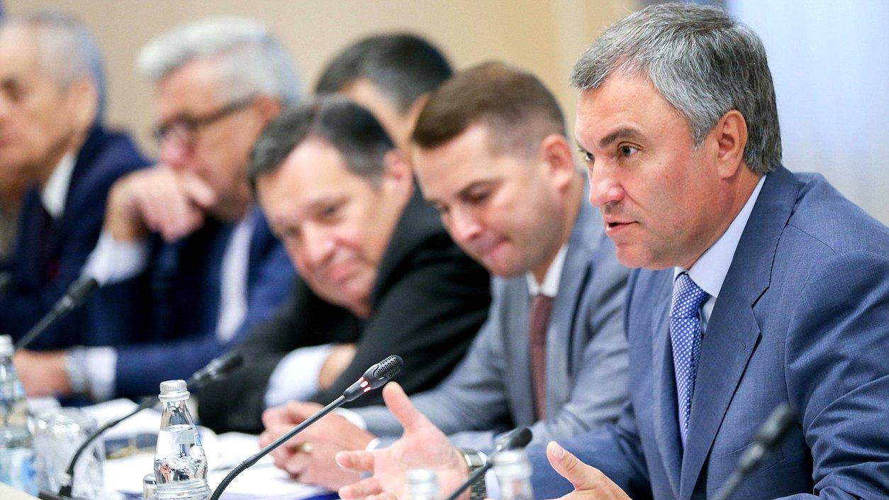 Володин: рабочая группаГД изучит все поправки впенсионное законодательство