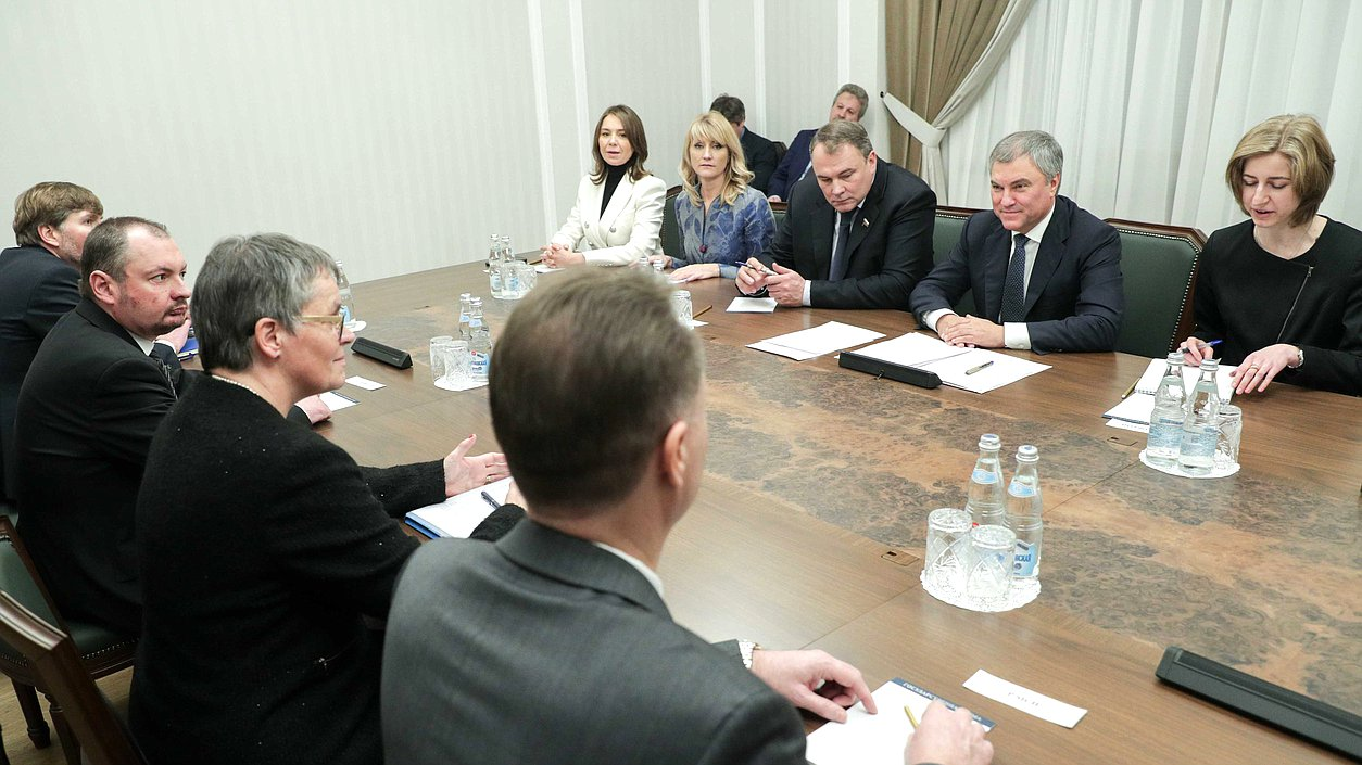 Meeting of Chairman of the State Duma Viacheslav Volodin and PACE President Liliane Maury Pasquier
