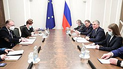 Meeting of Chairman of the State Duma Viacheslav Volodin and PACE President Rik Daems
