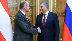Chairman of the State Duma Viacheslav Volodin and President of the National Council of the Austrian Republic Wolfgang Sobotka