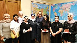 Deputy Chairwoman of the State Duma Olga Epifanova and a delegation of Businesswomen's Society of the Kingdom of Bahrain