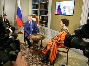 Interview of Chairman of the State Duma Viacheslav Volodin to the Indian TV channel DD1