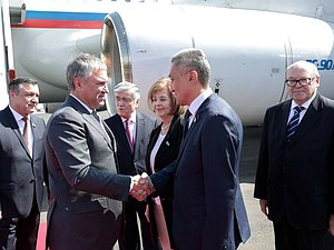 Arrival of Chairman of the State Duma Viacheslav Volodin in Uzbekistan