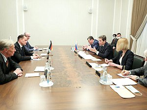 Meeting of First Deputy Chairman of the State Duma Aleksandr Zhukov with delegation of the parliamentary group of the Alternative for Germany Party