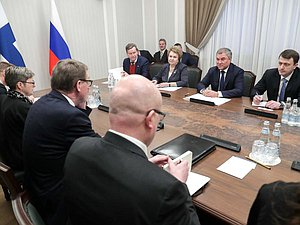 Meeting of Chairman of the State Duma Viacheslav Volodin and Speaker of the Parliament of the Republic of Finland Matti Vanhanen