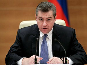Chairman of the Committee on International Affairs Leonid Slutskiy