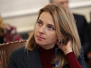 Deputy Chairwoman of the Committee on International Affairs Natalia Poklonskaia