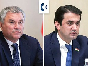 Viacheslav Volodin had a telephone conversation with Chairman of the National Assembly of Tajikistan Rustami Emomali