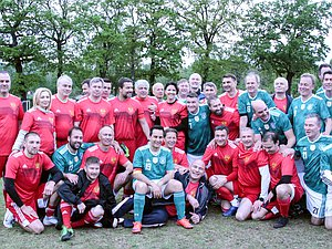 Football mathch between members of the State Duma and the Bundestag