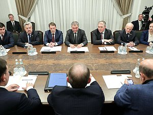 "Meeting of Chairman of the State Duma Viacheslav Volodin and Chairman of the Inter-Factional Parliamentary Association of the Verkhovna Rada of Ukraine ""Inter-Parliamentary Dialogue for Peace: Ukraine-Russia-Germany-France"" Viktor Medvedchuk"