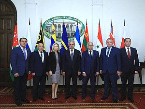 Deputy Chairwoman of the State Duma Olga Timofeeva and President of the Republic of Abkhazia Raul Khadzhimba