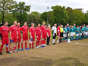 Football match between the teams of the State Duma and the Bundestag