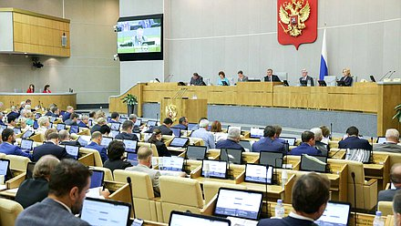Plenary meeting Zhirinovskii