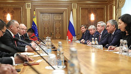 Meeting of Chairman of the State Duma Viacheslav Volodin and President of the National Constituent Assembly of Venezuela Diosdado Cabello Rondón