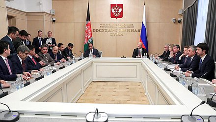 Meeting of Chairman of the State Duma Viacheslav Volodin and Speaker of the House of the People of the National Assembly of the Islamic Republic of Afghanistan Mir Rahman Rahmani