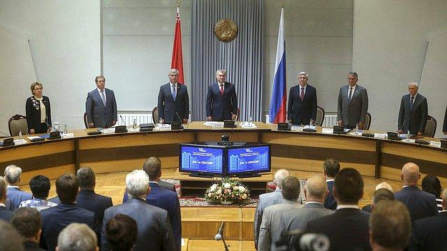 Заседание 54-й сессии Парламентского Собрания Союза Беларуси иРоссии