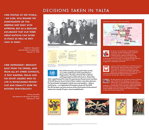 "The exhibition ""Yalta 1945.Truth about the Victory.Lessons of history"""