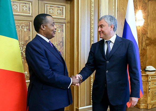Chairman of the State Duma Viacheslav Volodin and President of the Republic of the Congo Denis Sassou Nguesso