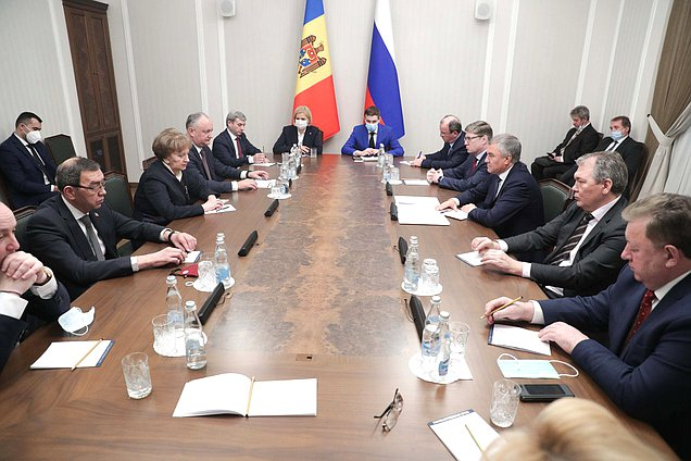 Meeting of Chairman of the State Duma Viacheslav Volodin and Speaker of the Parliament of the Republic of Moldova Zinaida Greceanîi