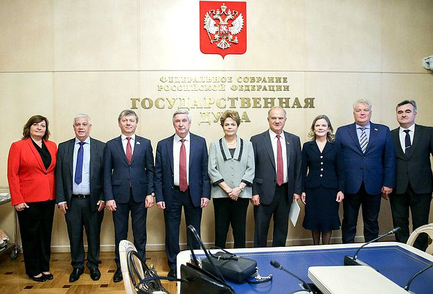 Meeting of First Deputy Chairman of the State Duma Ivan Melnikov and delegation of the Workers' Party of Brazil