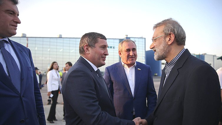 Governor of the Volgograd Region Andrei Bocharov, Deputy Chairman of the State Duma Sergei Neverov and Chairman of the Islamic Consultative Assembly of the Islamic Republic of Iran Ali Larijani