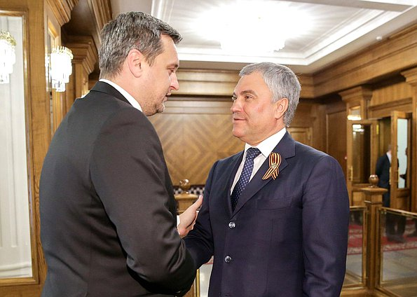 Chairman of the State Duma Viacheslav Volodin and Speaker of the National Council of the Slovak Republic Andrej Danko