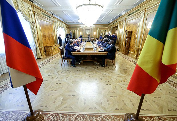 Meeting of Chairman of the State Duma Viacheslav Volodin and President of the Republic of the Congo Denis Sassou Nguesso
