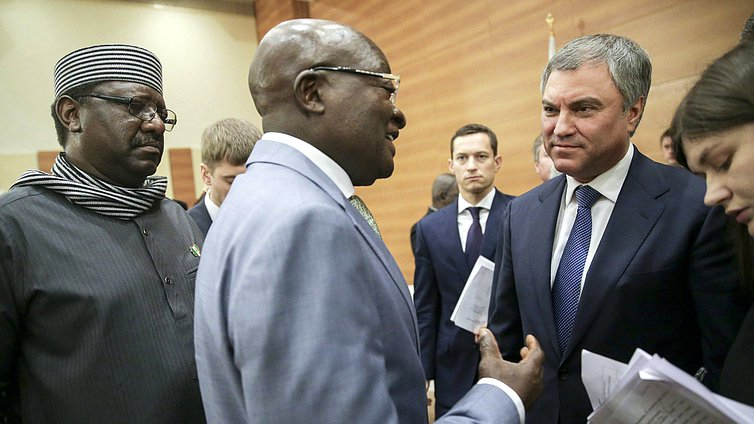 Meeting of Chairman of the State Duma Viacheslav Volodin with the ambassadors of African countries to the Russian Federation