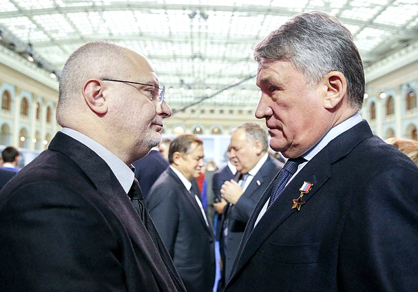 Member of the Federation Council Andrei Klishas and Deputy Chairman of the Federation Council Yuri Vorobyev