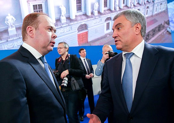 Head of Presidential Administration of the Russian Federation Anton Vaino and Chairman of the State Duma Viacheslav Volodin